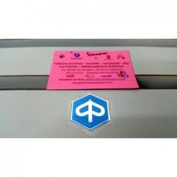 Scudetto-stemma Piaggio in rilievo resinato adesivo esagono mm 32 - sim 295596 cif 5776-R